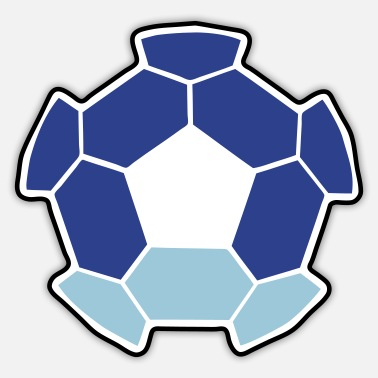 Sci-fi sci fi negative shape soccer ball FOOTBALL - Sticker