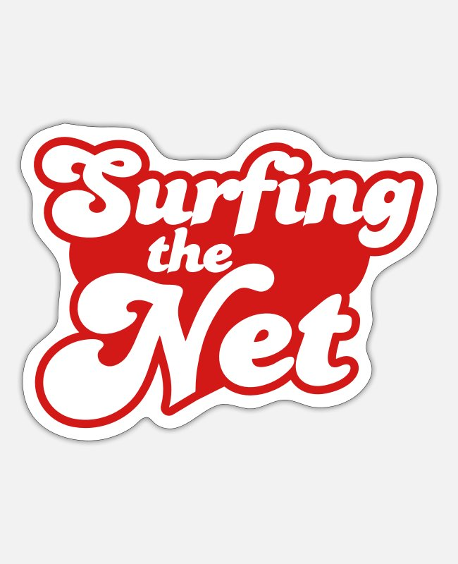 Social Stickers - Surfing the Net - Sticker white matte