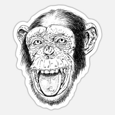 Happy Ape Happy Chimp HD Design - Sticker