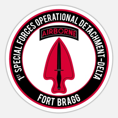Force 1st SF Op Det - Delta Ft Bragg - Sticker