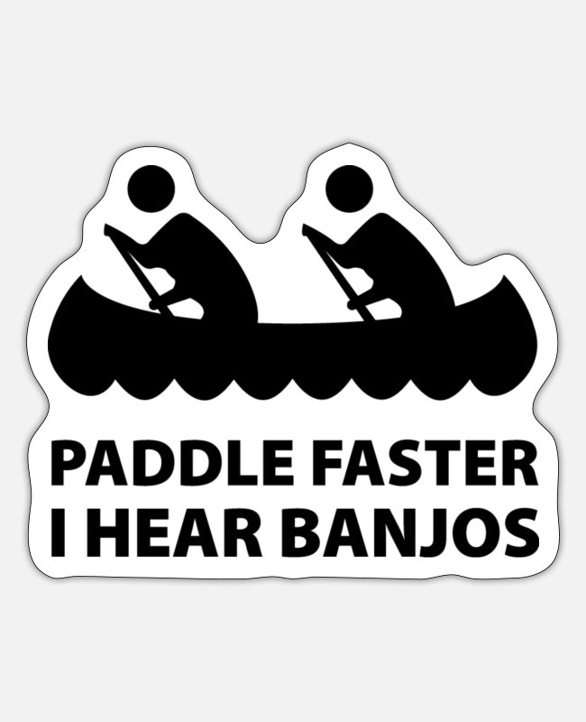 Can Stickers - Paddle Faster - Sticker white matte