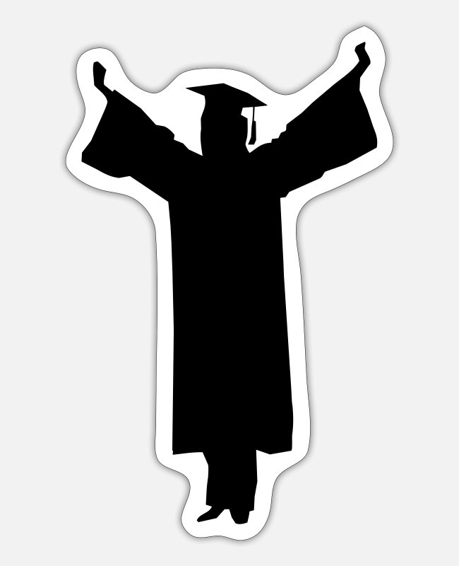 School Stickers - Graduate - Sticker white matte