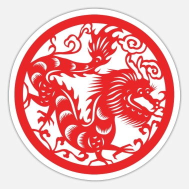 Chinese New Years - Zodiac - Year of the Dragon - Sticker