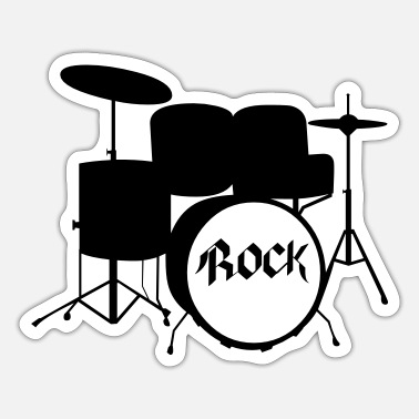 Tambores Rock Drummer - Drums - Rock and Roll - Band - Sticker