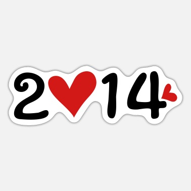 2014 2014 new year - Sticker