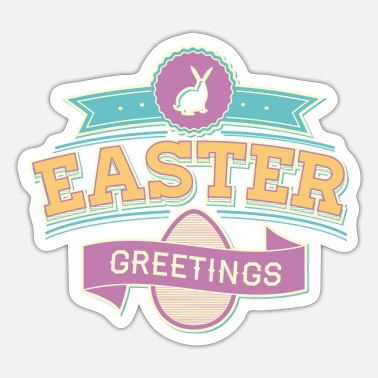 Greeting Easter Greetings - Sticker