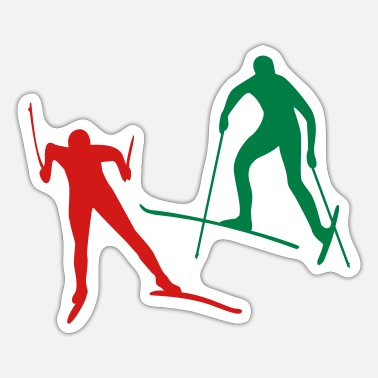 Cross Country Skiing cross-country ski - Sticker