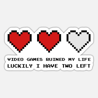 Video Games Video Games Ruined My Life - Sticker