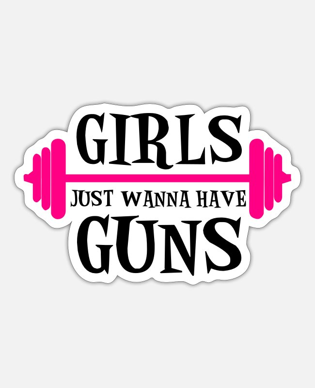 Gun Stickers - Guns - Sticker white matte