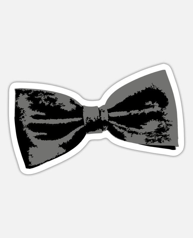 St Patricks Day Stickers - Slanted Bow Tie (Left) - Sticker white matte