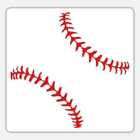 'Baseball with realistic seams' Sticker | Spreadshirt