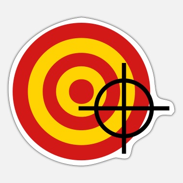 Target target with a targeting - Sticker