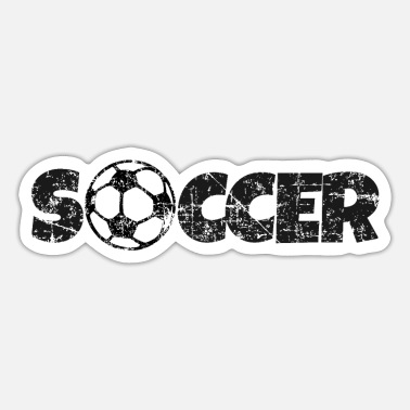 SOCCER (Distressed Black) - Sticker