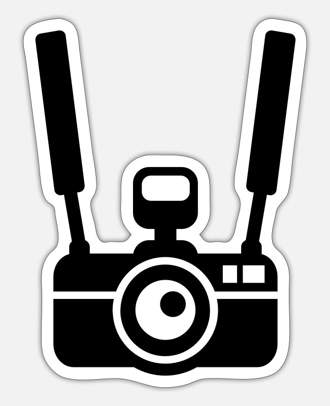 Shooting Stickers - Camera - Sticker white matte