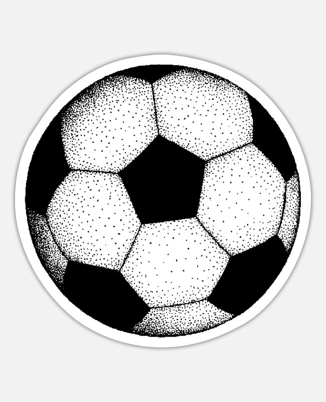 Ball Stickers - Soccer Ball - Sticker white matte