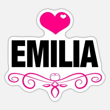 Babygro Emilia, Love, Hearts, Baby, Girls, Birthday, Gifts - Sticker