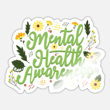 Teacher Mental Health Awareness Month Retro Positive Quote - Sticker