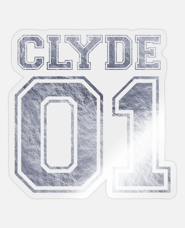 Silver Stickers - Clyde_01_silver_1 - Sticker transparent glossy