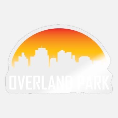 Overland Park Overland Park Kansas Sunset Skyline - Sticker