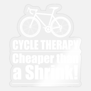 Funny Cycling Cycling Funny Design - Cycle Therapy - Sticker
