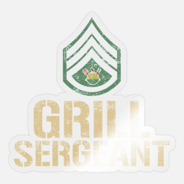 Bbq Funny Grill Sergeant BBQ Barbeque - Sticker