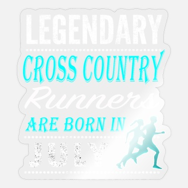 Runner Cross country Legends are born in July - Sticker
