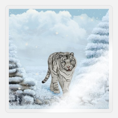 White Wonderful white siberian tiger - Sticker