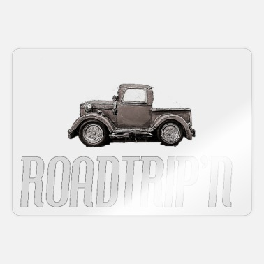 Travel Agency Clerk Vintage car road trip travel Gift ideas - Sticker