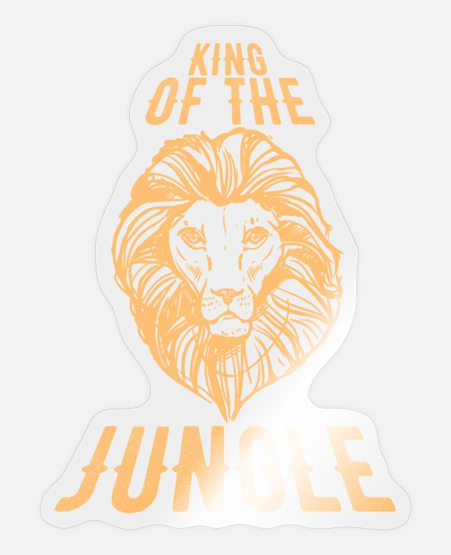 King Stickers - King of the Jungle - Sticker transparent glossy
