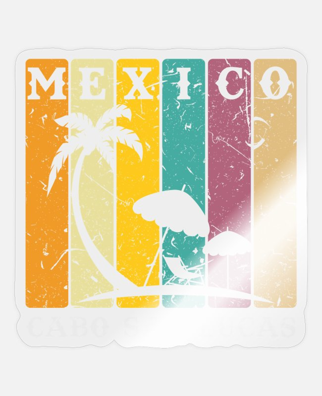 Central America Stickers - Mexico Vacation - Sticker transparent glossy