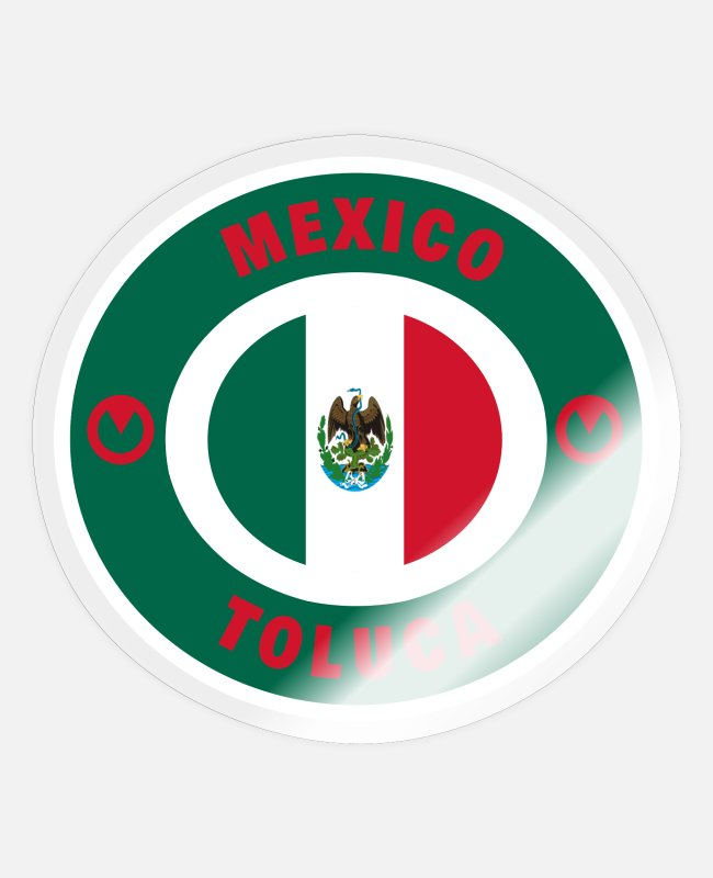 South American Stickers - Mexico Toluca / Gift Flag National Flag - Sticker transparent glossy