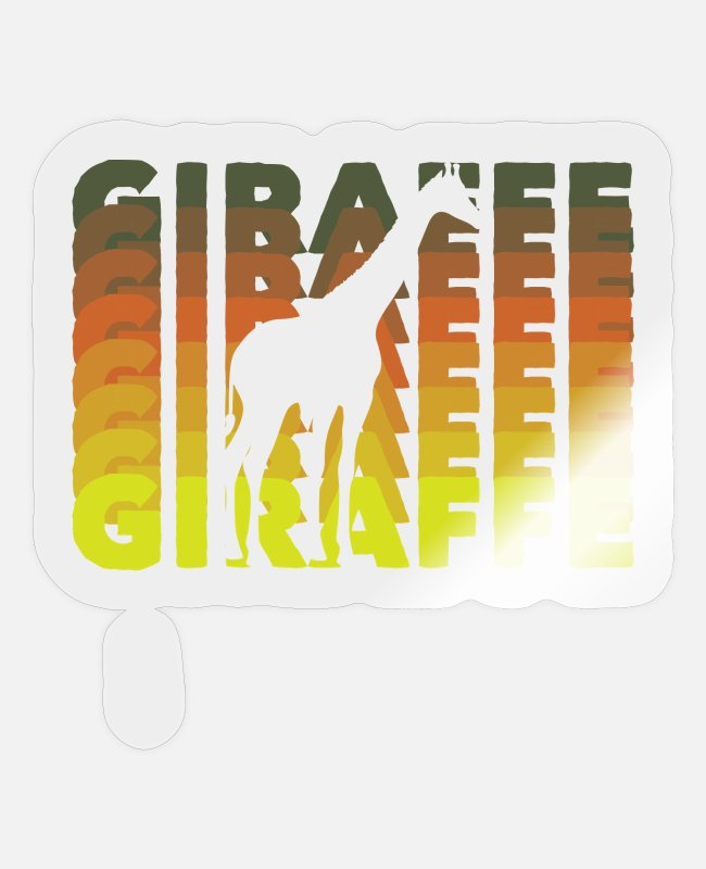 Mali Stickers - Giraffe - Sticker transparent glossy
