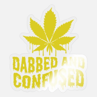 Confused Dabbed And Confused - Sticker