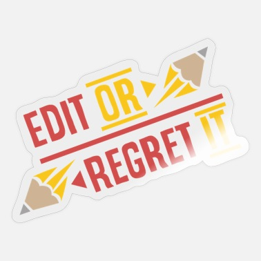 Teacher English Teacher Edit Or Regret It - Sticker