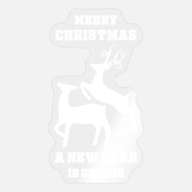 Funny Ugly New deer Christmas sweater - Sticker