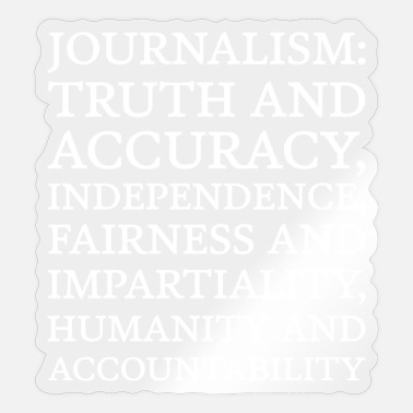Accuracy Text: Journalism principles (white) - Sticker