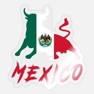 Monterrey Taurus Mexico with national flag / Gift Bull - Sticker