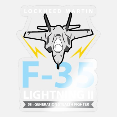 F 35 Aviation Tees: F-35 Lightning II Stealth Fighter - Sticker