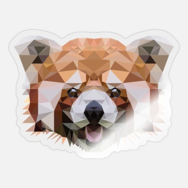 Panda Polygon Red Panda Mosaic - Sticker