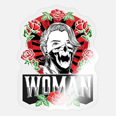 Feminism Woman Power Emancipation Equality Rose - Sticker
