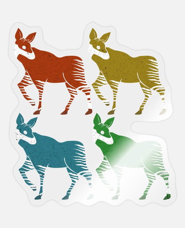 Okapi Stickers - Okapi - Sticker transparent glossy