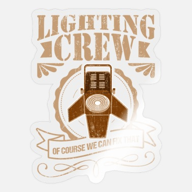 Spot Light Light Technician Crew Light Event Gift - Sticker
