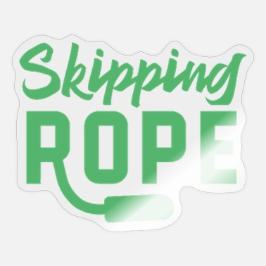 Rope Rope Skipping Rope Skipping Rope Skipping - Sticker