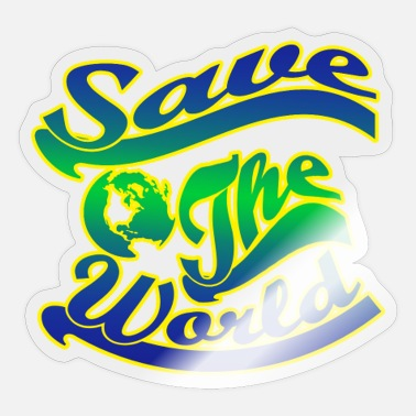 Save The World Save the world - Sticker