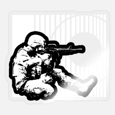 Army Sniper Soldier Sharp Shooter Sniper Graphic US Army - Sticker