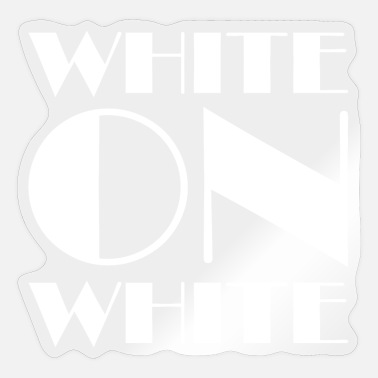 White White On White - Sticker