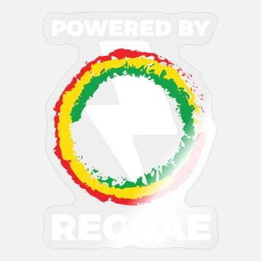 Reggaeton Powered by Reggae Music Caribbean Reggaeton - Sticker