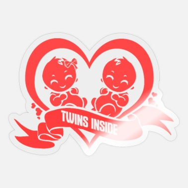 Twin Pregnancy Twins Inside Pregnancy Twins Pregnancy - Sticker