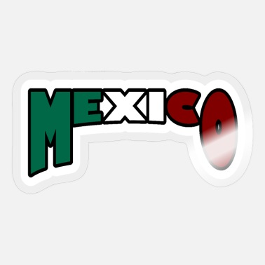Green White Red Mexico white - Sticker