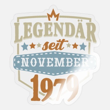 Birthday November 1979 Legendary - Sticker